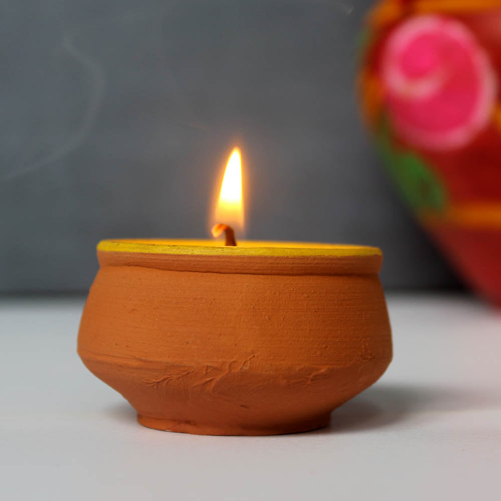 Terracotta HANDI Candle : Set of 50  Aromatic Candles