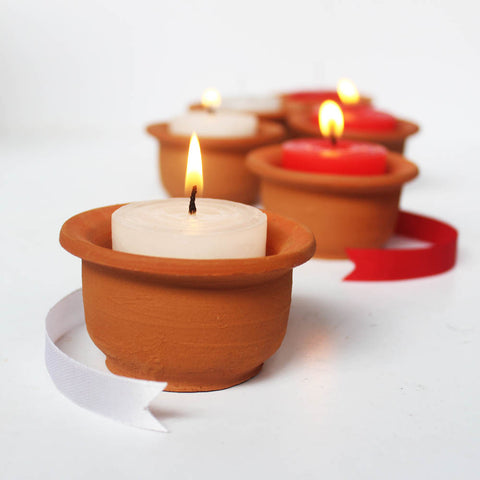 """HAT"" POT Candle Holder with  Aromatic Candles"