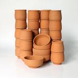 Pillar Type Kullad (set of 25 kullads & 5 bowls )