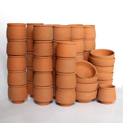 Pillar Type Kullad (set of 50 kullads & 10 bowls )