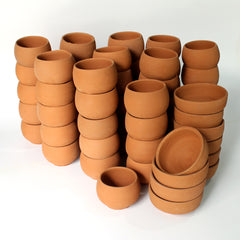 Dome Type Kullad (set of 50 kullads & 10 bowls )