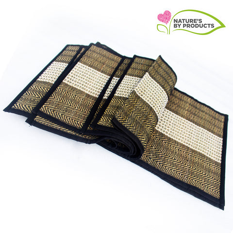 Table Mat with Runner (Madur) : Weaved with Black String