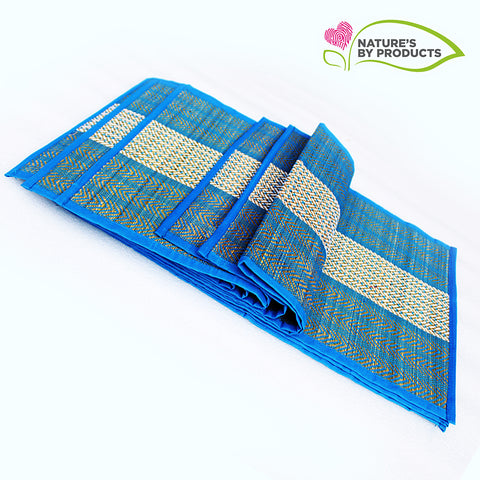 Table Mat with Runner (Madur) : Weaved with Blue String