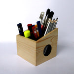 Wooden Pen Stand Drawing table Organizer