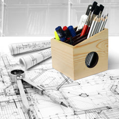 Drawing table Organizer : Pen Stand made of Wood : Desktop/Tabletop Organizer