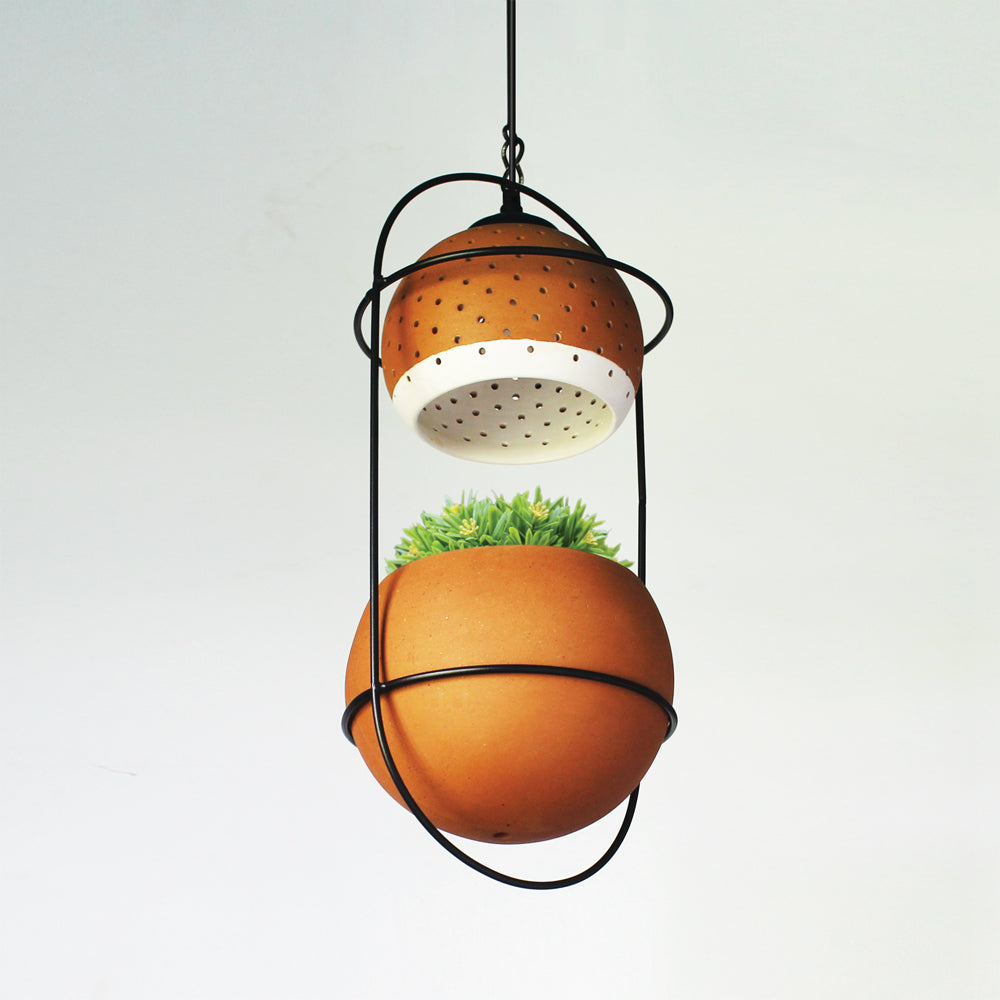 """BREATHING LIGHT"" Design 1 : INNOVATIVE Low Height Hanging Light + PLANTERS"