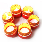 Candle Pod RED - MiNi : Set of 6