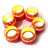 Candle Pod RED - MiNi (set of 6 candle pots in Red colours)