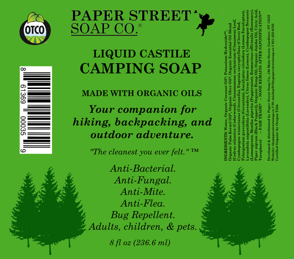 Camping Soap (8 fl oz) - Paper Street Soap Co.