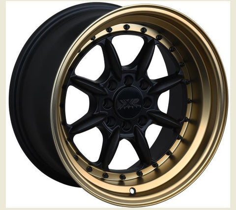 XXR Wheels 002.5 Flat Black Bronze Lip