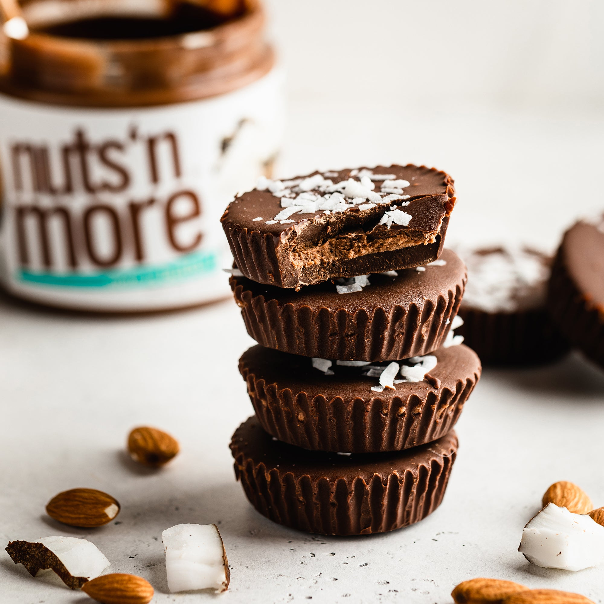 Chocolate Almond Coconut Cups
