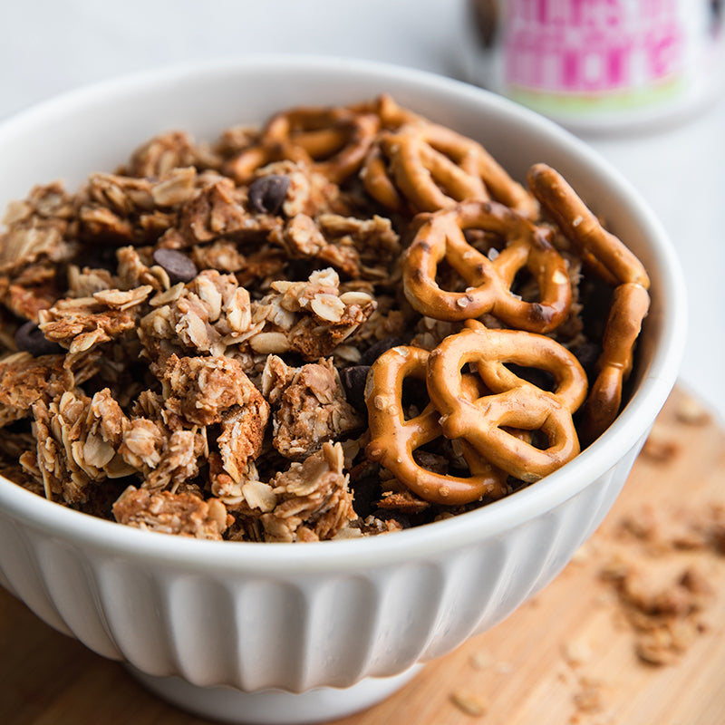 Chocolate Maple Pretzel Granola