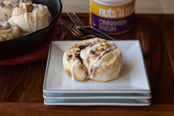 Cinnamon Raisin Almond Butter Cinnamon Rolls