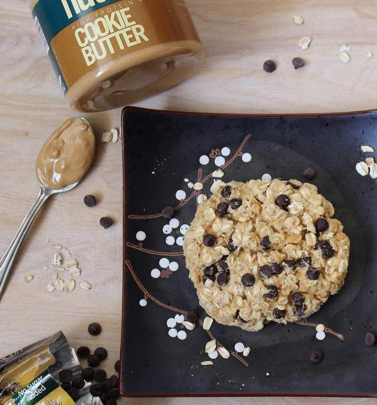 Giant Cookie Butter Protein Oatmeal Cookie