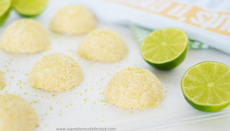 Coconut Key Lime Protein Macaroons