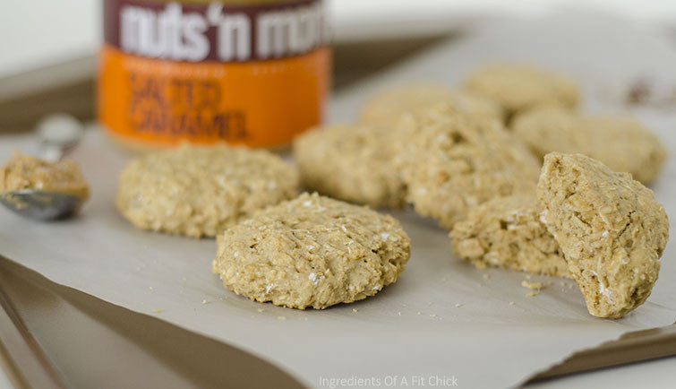 Salted Caramel Apple Butter Oatmeal Cookies
