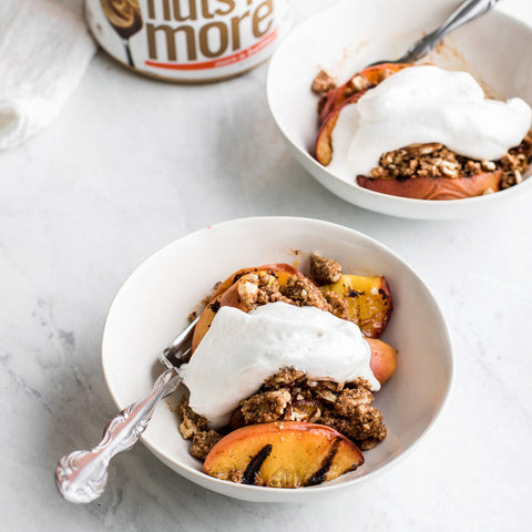 Grilled Peach Crumble