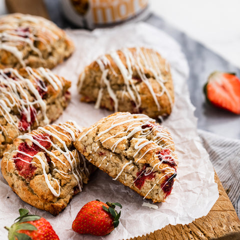 Strawberry Peanut Butter Scones