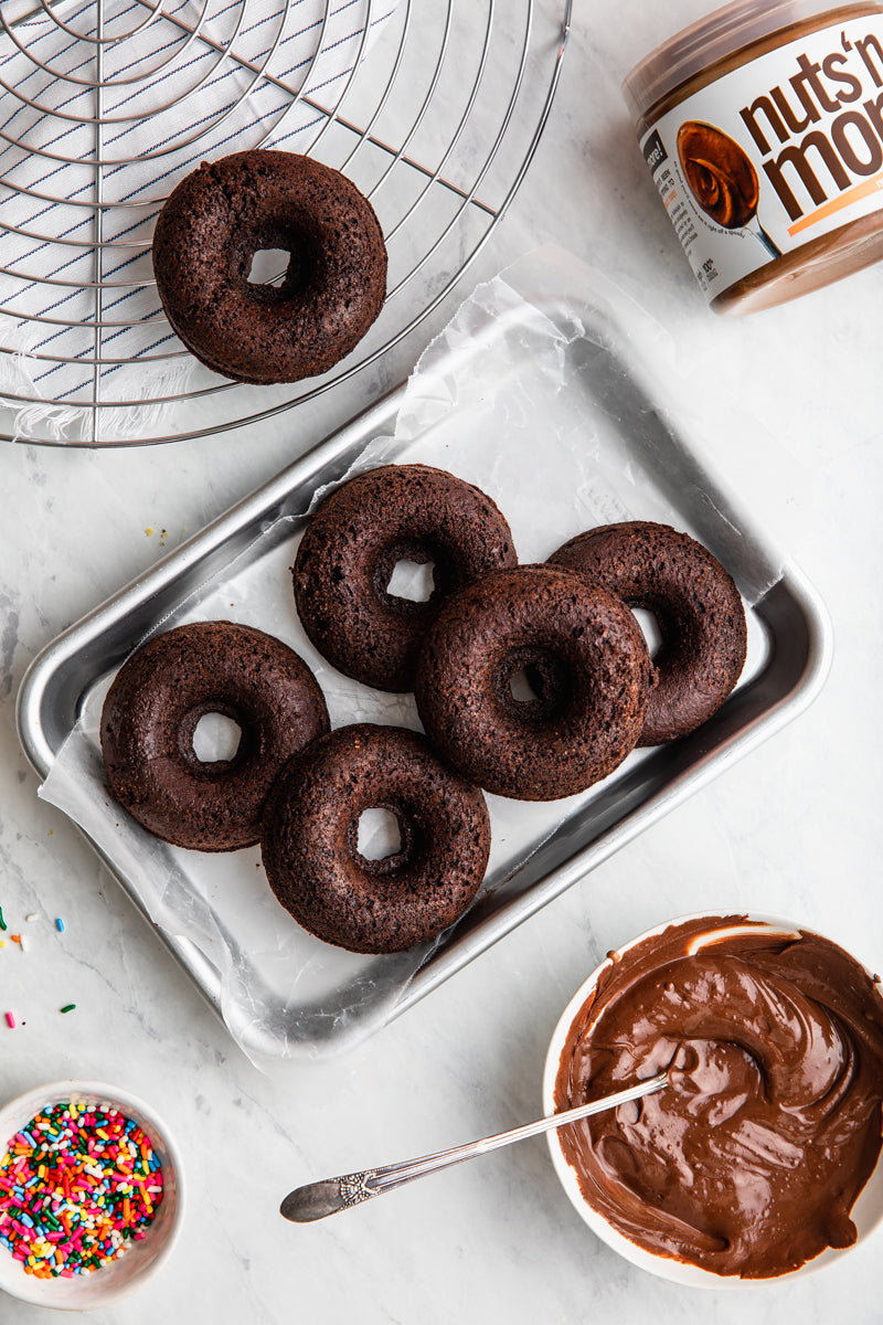 Double Dark Chocolate Donuts Extra Image #1