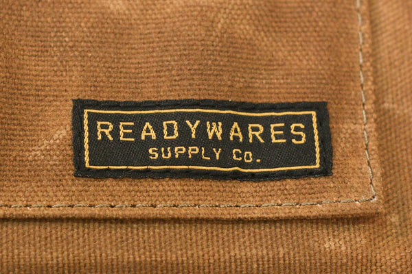 Readywares Waxed Canvas Utility Apron, Cross-back Straps (Tan)