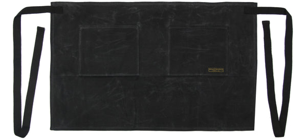 Readywares Waxed Canvas Utility Half Apron (Black) - Black
