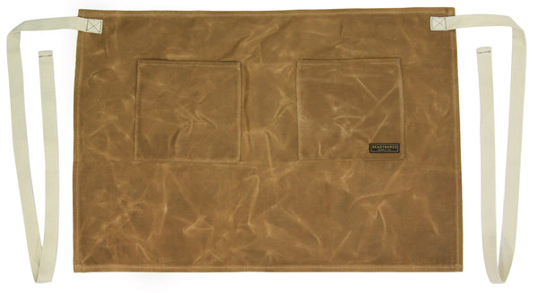 Readywares Waxed Canvas Utility Half Apron (Tan)