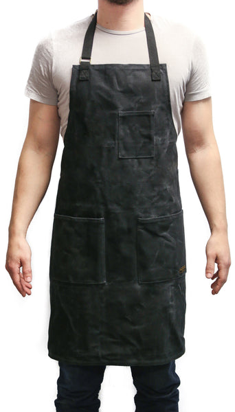 Readywares Waxed Canvas Utility Apron (Black) - Black