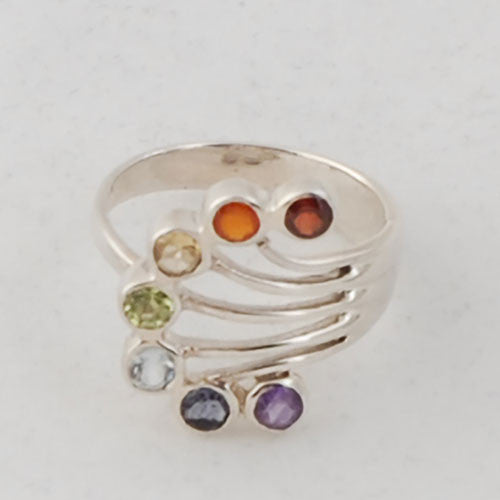 Chakra Ring Sterling Silver