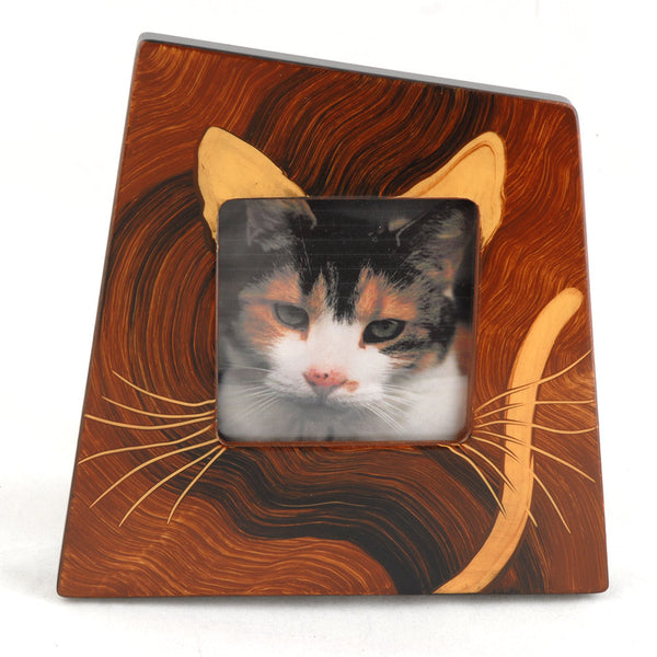 Handmade Wooden Frame/Cat Design