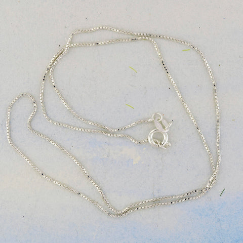 "Box Silver Chain 20"" Sterling Silver"