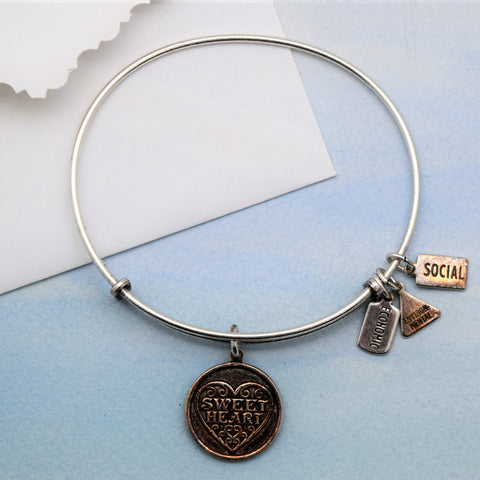 Bracelet with Sweetheart Charm