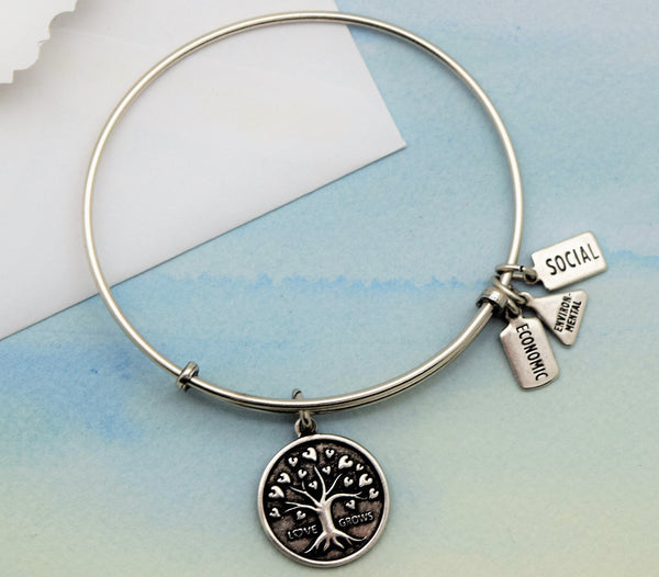 Bracelet with Tree of Love Charm