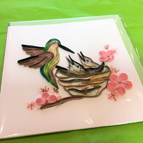 Quilling Card with Hummingbirds