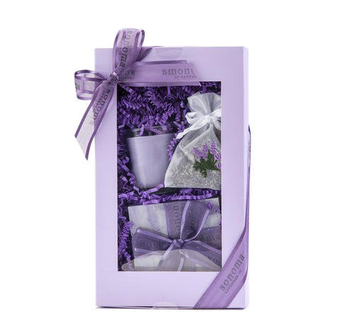 Lavender Gift Set Soap Votive Sachet
