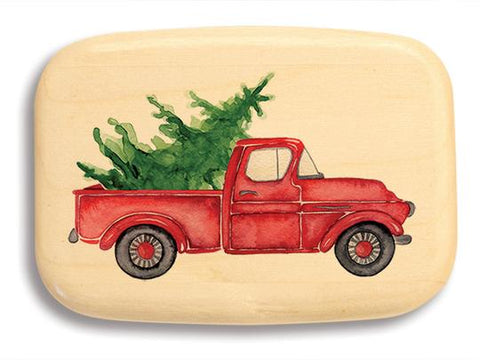 Wood Box - Christmas Tree in Truck