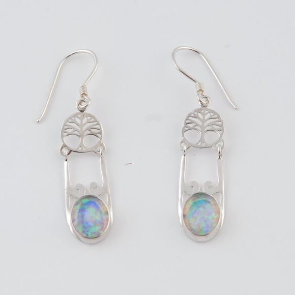 Tree of Life Opal Earrings