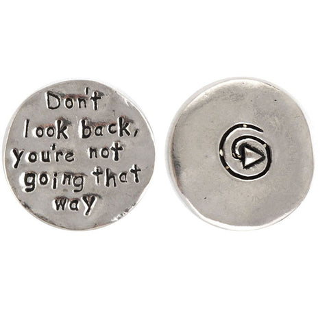 Don't look back - you're not going that way coin