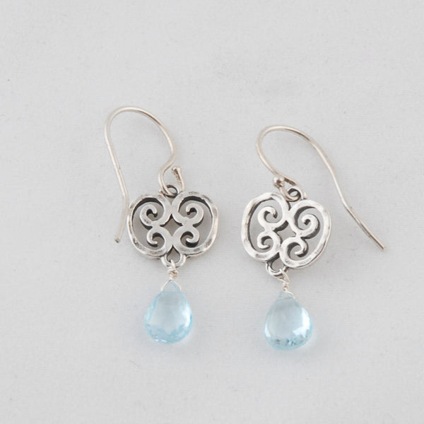 Silver Topaz Stone Earrings