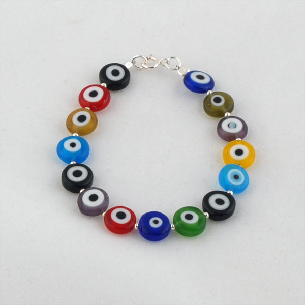 Eye Bracelet Beads with Sterling Silver Mix