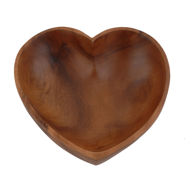 Olive Wood Heart Bowl