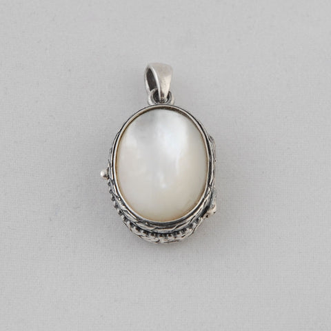 Mother of Pearl Locket - Sterling Silver