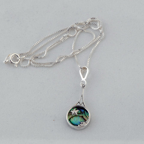 Moon Star Paua Shell Necklace