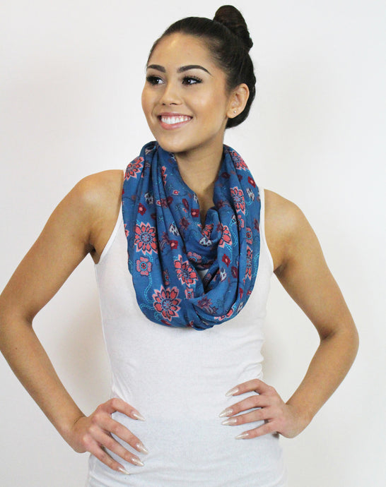Desert Bloom Infinity Scarf