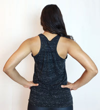 Third Eye Yoga Tank in Black Moonscape Marble