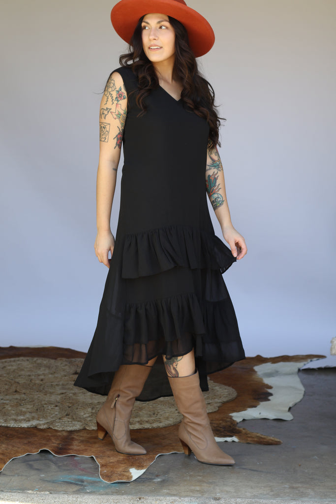 6182 Black Ruffle Dress (6@$19)