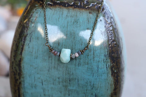 51914 Aqua Amanozite Necklace