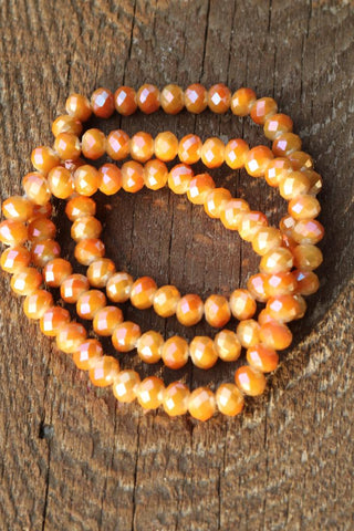 897 Rust Orange or Lime Green Bracelet