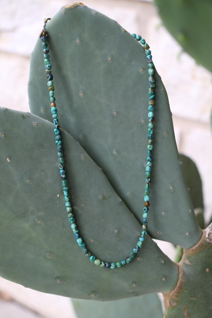 81925-N2 1 Genuine Turquoise Nugget Necklace