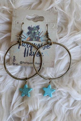 12044 Turquoise Star Earring