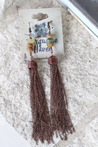 32051 Antique Copper Tassel Earring